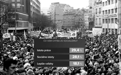 Slovákom zo socializmu najviac chýba istota práce. Na súčasnosti oceňujú slobodné cestovanie aj plné obchody