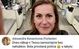 Slovenka tvrdila, že nakupovala bez rúška a ignorovala aj policajtov. V skutočnosti je však internetová hrdinka na smiech