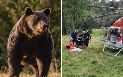 Slovenku napadl medvěd. S tržnými ranami ji zachraňoval vrtulník