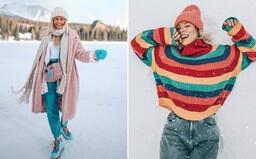 Slovenky a Češky milujú zimu, čoho dôkazom sú ich outfity za uplynulý mesiac