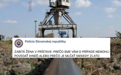Slovenská polícia vysvetľuje, prečo týždeň mlčala o zabitej mladej učiteľke v prístave
