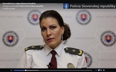 Slovenská polícia žiada rodičov, aby neútočili na svoje deti za zlé vysvedčenie
