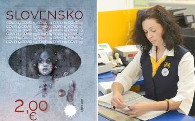 Slovenská pošta vydáva známku Covid-19. Chce podporiť dodržiavanie bezpečnostných opatrení vrátane nosenia rúška