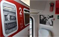 Slovenské vlaky sa zmenili na unikátnu galériu fotografií jednej z najvýznamnejších osobností našich dejín