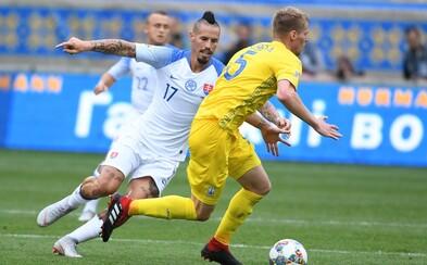 Slovenskí futbalisti vstúpili do Ligy národov prehrou po nezáživnom zápase s Ukrajinou