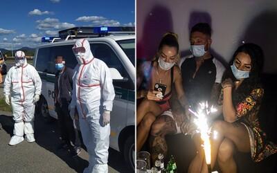 Slovenskí policajti nabehli na diskotéky a kontrolovali, či sa nosia rúška a dodržiava odstup