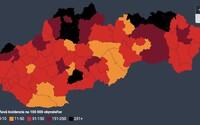 Slovensko má 9 čiernych a 19 bordových okresov, tvrdia analytici