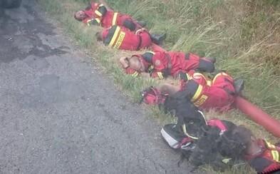 Slovensko obletela fotografia našich vyčerpaných hasičov po dlhých hodinách boja s lesným požiarom. Potrebovali doplniť sily priamo v prírode