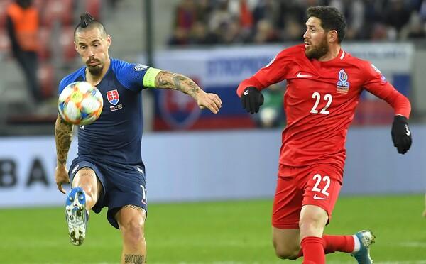 Slovensko zatiaľ nepostupuje na Euro 2020, nepomohla ani výhra 2:0 nad Azerbajdžanom