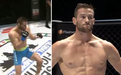 Slovenský bojovník MMA zaknihoval parádne víťazstvo, keď skúsenému Japoncovi uštedril tvrdý knockout