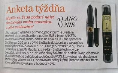 Slovenský časopis dokazuje, že nemá súdnosť. Súťaž o kozmetiku spojil s vraždou novinára, ľudia sa právom búria