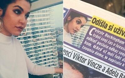 Slovenský deník si spletl Dunaj s Dubají. O Celeste Buckingham ještě stihl napsat i provokační článek o tom, jak si užívá v luxusu