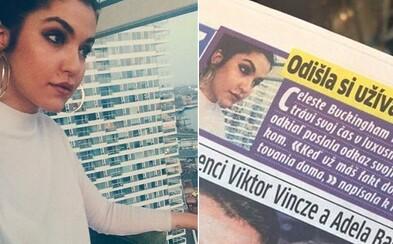 Slovenský denník si pomýlil Dunaj s Dubajom. O Celeste Buckingham ešte stihol napísať aj provokačný článok o tom, ako si užíva v luxuse