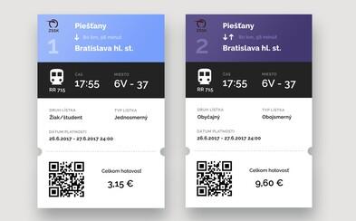 Slovenský dizajnér vytvoril modernejšiu verziu vlakových lístkov, aby cestujúcim sprehľadnil potrebný doklad