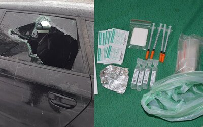 Slovenský důchodce měl u sebe 180 gramů heroinu, a tak se zabarikádoval v autě. Skrýval v něm i marihuanu, stříkačky a tisíce eur