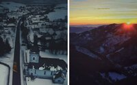 Slovenský fotograf dokazuje, že naša krajina vyzerá v zime tajuplne a magicky. Krásu Tatier i malej dedinky zachytil dokonale