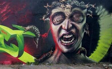 Slovenský umělec tvoří dechberoucí graffiti, do jeho portfolia patří i bowlingová hala