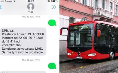 SMS lístky sa čoraz viac falšujú. Vďaka šikovnému princípu dokážeš na MHD slušne ušetriť
