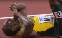 Smutná bodka na záver kariéry. Usain Bolt sa počas svojho posledného preteku nešťastne zranil