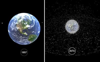 Smutná realita: Video odhaluje šokující přeměnu oběžné dráhy Země na vesmírné smetiště