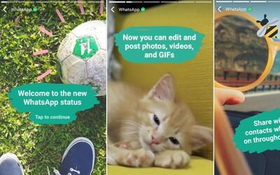 Snapchat dostává další tvrdou ránu. WhatsApp Status ti umožní sdílet důležité momenty z tvého dne