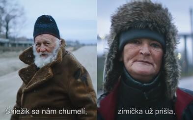 Sniežik sa nám chumelí, zimička už prišla. Dojímavá slovenská kampaň ťa motivuje, aby si pomohol bezdomovcom