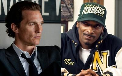 Snoop Dogg pri natáčaní tajne vymenil McCounagheymu rekvizitnú marihuanu za svoju odrodu