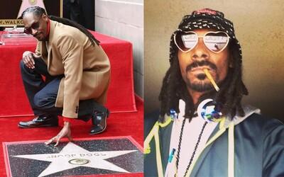 Snoop Dogg při odhalení hvězdy na chodníku slávy poděkoval sám sobě za to, že si vždycky věřil