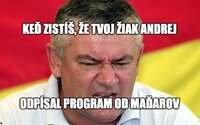 SNS Andreja Danka vraj skopírovala a preložila časť programu maďarskej strany. Ján Slota by sa hneval, reagujú vtipne Slováci
