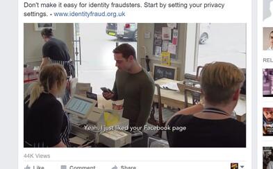 Sociálny experiment ti ukáže, že tvoja identita môže byť ukradnutá v priebehu sekúnd. Stačí lajknúť stránku na Facebooku