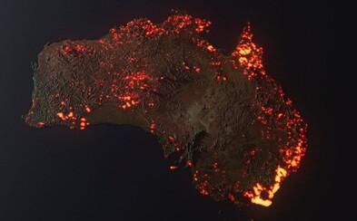 Sociálními sítěmi se šíří vizualizace Austrálie v plamenech. Instagram na ni upozorňuje jako na nepravdivou informaci