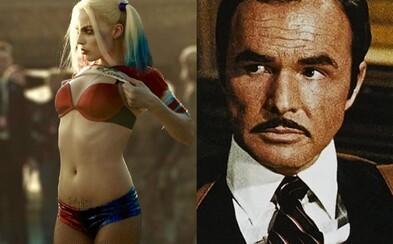 Sólovka Harley Quinn by mohla byť R-ko a v Tarantinovej novinke si možno zahrá legendárny Burt Reynolds