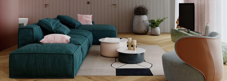 Soňa Skoncová s partnerom majú nové bývanie, v ktorom dominuje súčasný dizajn a pestrá paleta farieb