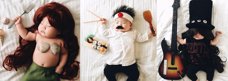 Spiace bábätko ani len netuší, že sa potajomky premieňa na najrôznejšie postavy a osobnosti. Ktovie, o čom sa mu vtedy sníva