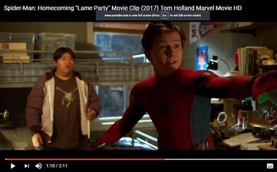 Spider-Man je v ukážke zo sólovky Homecoming stredoškolákom milujúcim párty, ktorý má ale problémy ustrážiť si svoju tajnú identitu