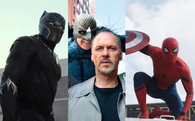 Spider-Manova sólovka s Iron Manom predstaví Michaela Keatona ako nového záporáka a Black Panther sa bude natáčať v Afrike