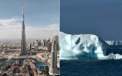Spojené arabské emiráty chcú dotiahnuť ľadovce z Antarktídy, aby vyriešili svoje problémy s pitnou vodou. Odvážny projekt prinesie aj dážď
