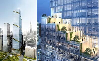 Spojenie prírody a skla uprostred New Yorku: Mrakodrap budú obklopovať zelené terasy tiahnuce sa celou budovou