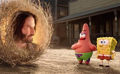 Spongebob a Patrick stretávajú Keanu Reevesa. Hollywoodska hviezda si v novom animáku zahrá mudrca