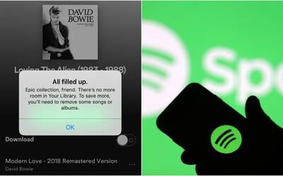 Spotify končí s kritizovaným omezením. Nově budeš moci mít v knihovně tolik skladeb, kolik chceš