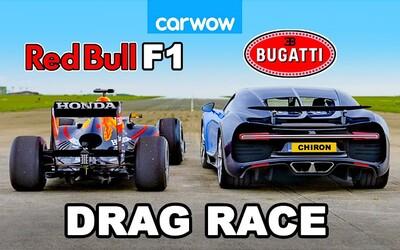 Šprint 1 500-koňového Bugatti s monopostom F1 ukázal úchvatný technologický pokrok oboch svetov