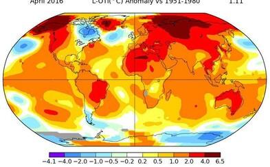 Stane se rok 2016 nejteplejším rokem v celé historii? První měsíce překonávají teplotní rekordy s obrovskými rozdíly