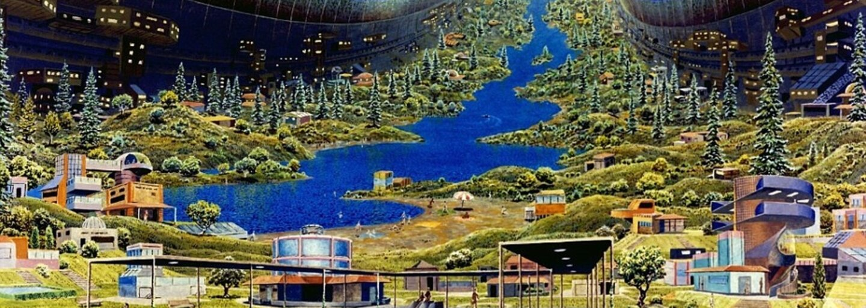 Staré ilustrace z minulého století ukazují, jak si NASA představovala život v roce 2100. Nechybí ani velká vesmírná loď