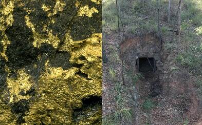 Šťastný Austrálčan našiel na svojom pozemku zlatú baňu. Drahý kov sa v nej ťažil pred dlhými rokmi