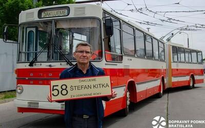 Štefan odrobil v bratislavskej MHD neuveriteľných 58 rokov. Teraz odchádza do zaslúženého dôchodku