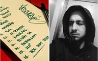 Strapo odhaľuje rukou písaný tracklist k albumu 13. Poschodie. Mená hostí si zatiaľ necháva pre seba, no fanúšikovia sa pustili do tipovania