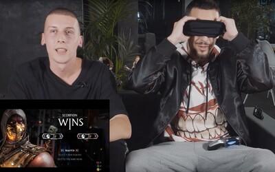 Strapo rozbil nášho Filipa v Mortal Kombat aj so zaviazanými očami