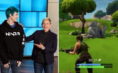 Streamer Ninja vysvetlil, ako zarába a Ellen DeGeneres naučil hrať Fortnite