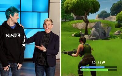Streamer Ninja vysvětlil, jak vydělává, a Ellen DeGeneres naučil hrát Fortnite
