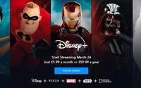 Streamovací služba Disney+ přijde do Evropy dříve, bude stát 175 korun měsíčně